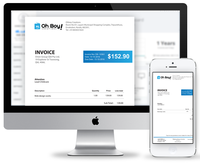 mrbiller desktop invoice features